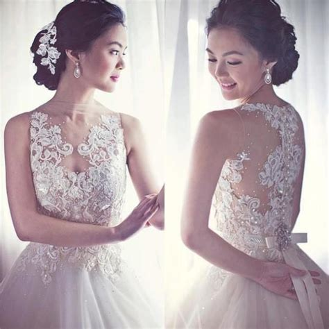 Wedding Hair Accessories In Divisoria by White Sleeveless Wedding Gown With Lace Designs 2009223