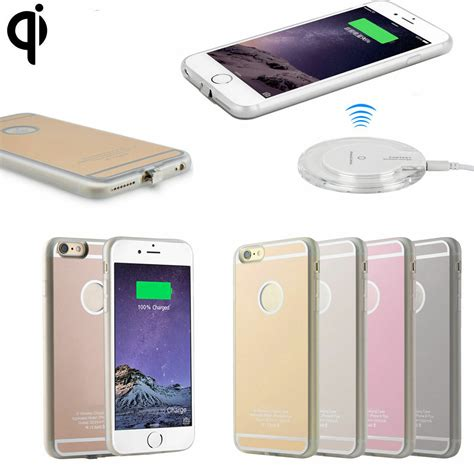 qi wireless charging receiver gel  case  iphone   fcc charger cover ebay