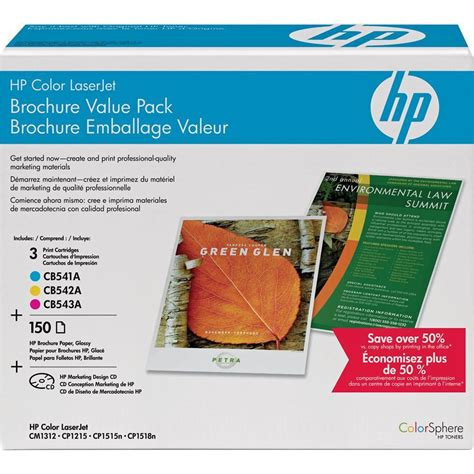hp brochure template hp ce256a color laserjet brochure value pack 8 5 x ce256a b h