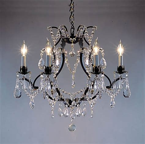 Versailles Collection Wrought Iron Chandelier A83 3030 6sw Gallery Swarovski Crystal Trimmed Versailles