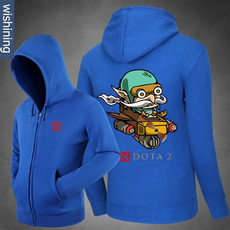 Hoodie Zipper Dota 2 Sablon Bludru dota 2 gyrocopter hoodie blizzard dota2 zip up black sweatshirt for wishining