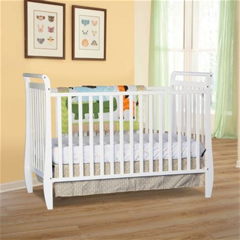 storkcraft sleigh 2 in 1 fixed side convertible crib in