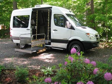 lifted mercedes van 2008 mercedes sprinter wheelchair van with braun uvl power