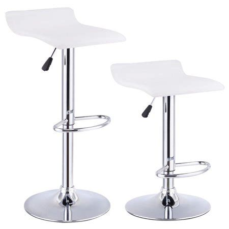 Set Of 3 Backless Bar Stools by Costway Set Of 2 Swivel Bar Stools Adjustable Pu Leather