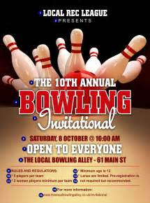 Bowling Flyer Template by Bowling League Flyer Ticket Printing