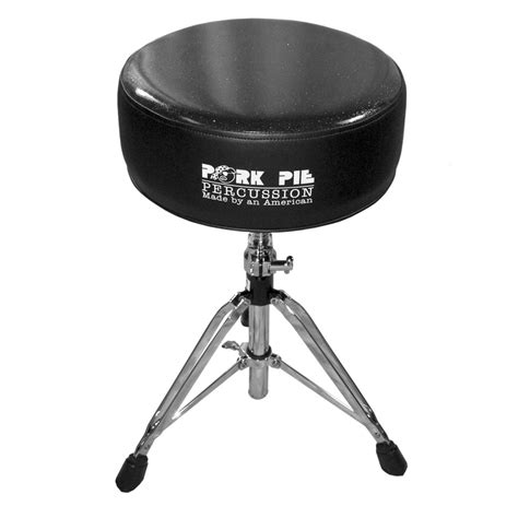 Pork Pie Drum Stool by Pork Pie Percussion Top Vinyl Black Side Black Sparkle Top Drum Throne Ppravthblkgb