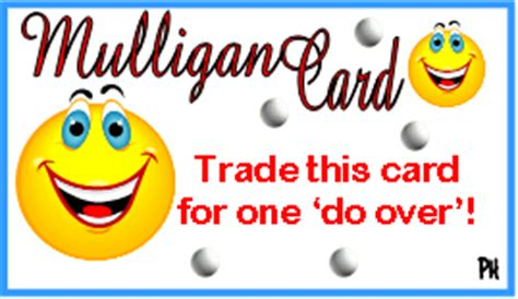 Free Mulligan Card Template by Mulligan Golf Make Golf