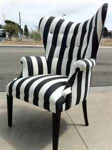 Black And White Striped Accent Chair Striped Black And White Chair Furniture Finds