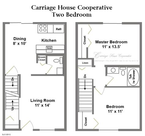 2 Story Garage Plans With Apartments by Floor Plans Carriage House Cooperative