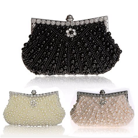 Clutch Handmade - handbags bags luxury pearl handmade evening bag