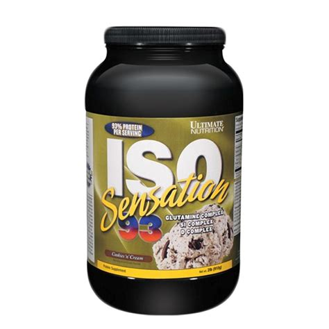 Whey Iso Sensation Ultimate Nutrition Iso Sensation 93 Whey Protein 2lbs