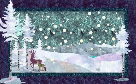 winter stroll winter landscape quilt by quiltfusion