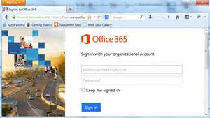 Office 365 how to sign in office 365 through a web browser