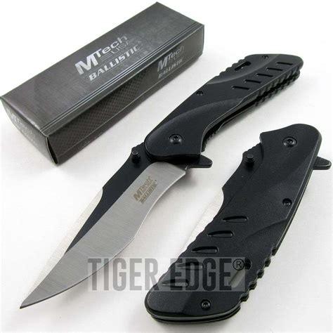 black rescue assist folding knife mtech black rescue tactical stiletto bowie mt a926bk
