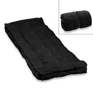 black bed roll