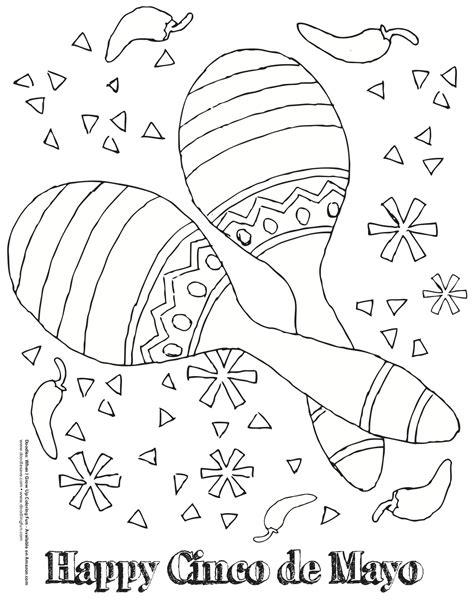 cinco de mayo coloring pages cinco de mayo coloring doodles ave
