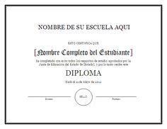 diplomas de graduacion para imprimir gratis modelo de diploma para imprimir gratis