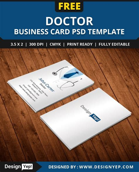 Doctor Business Card Template by Free Doctor Business Card Template Psd Free Business