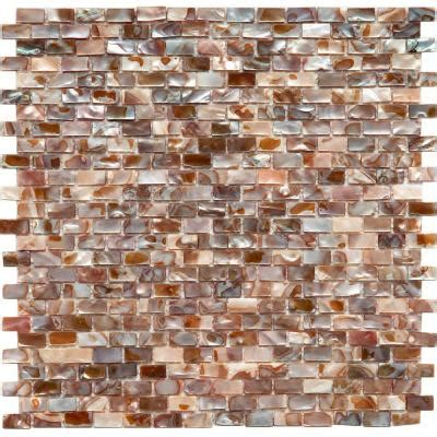 seashell tile backsplash somertile 11 75x11 75 in seashell subway perla mosaic tile