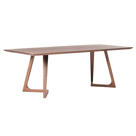 godenza dining table rectangular walnut products moe s