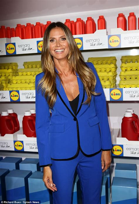 Esmara Grey Thongs heidi klum steps out in a blue suit for nyfw show daily mail