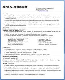 Pharmacy Technician Resume Exles by Pharmacy Technician Resume Sle No Experience Cpht Werk Pharmacy Resume And