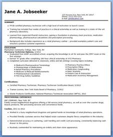 pharmacy technician resume sle no experience cpht