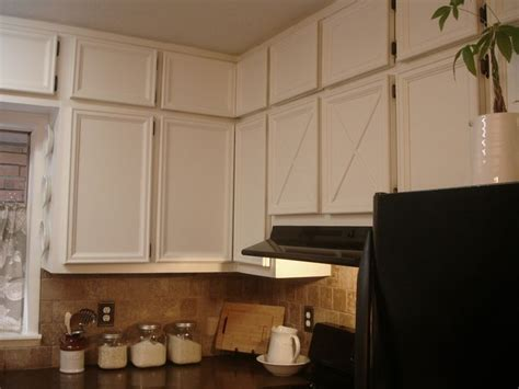 add moulding to plain cabinet doors kitchen