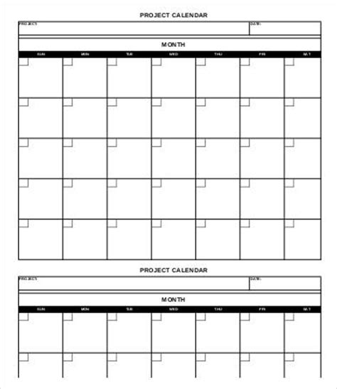 task calendar template project calendar template 10 free word pdf documents