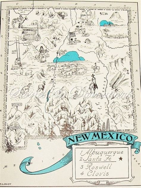 map of southwest usa and mexico 141 best route 66 images on advertising poster