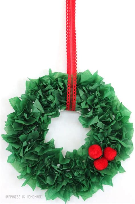 How To Make Tissue Paper Crafts - 25 unique tissue paper wreaths ideas on