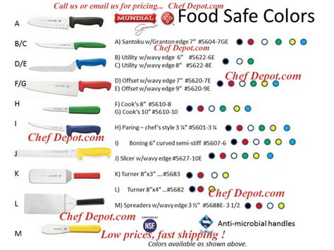 Used Kitchen Knives For Sale colored handle cutlery red white blue yellow red