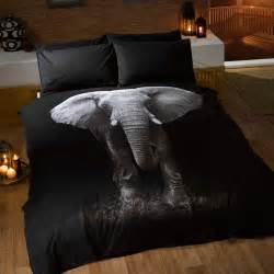 Elephant double doona cover and pillowcase set bedroom bedding free p