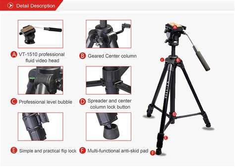 Tripod Kingjue Kingjoy Vt 1000 Black Light Kit kingjoy vt 1500 pro tripod kit kingjoy photographic equipment