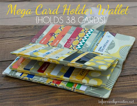 how to make a credit card holder mega credit card wallet sewing tutorial infarrantly