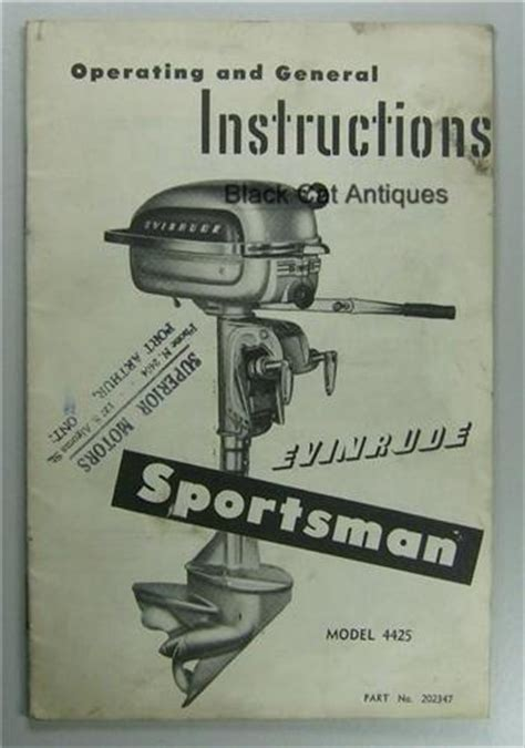 sportsman boats owners manual original vintage evinrude sportsman outboard motor owners
