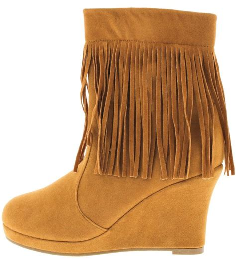 Boots Wedges 88 tunas94 fringe wedge boots from 12 88 27 88