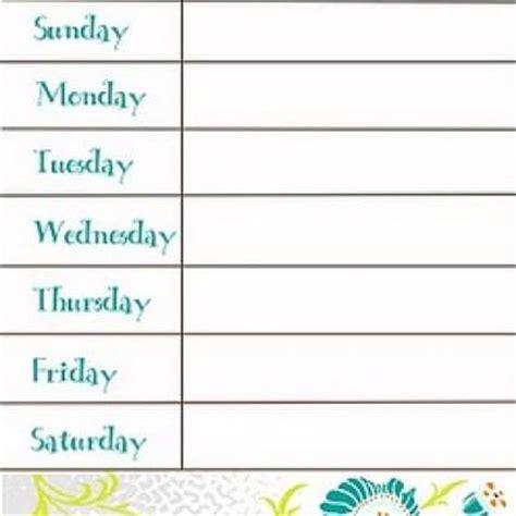 printable menu planner calendar menu planner weekly calendar printable tip junkie