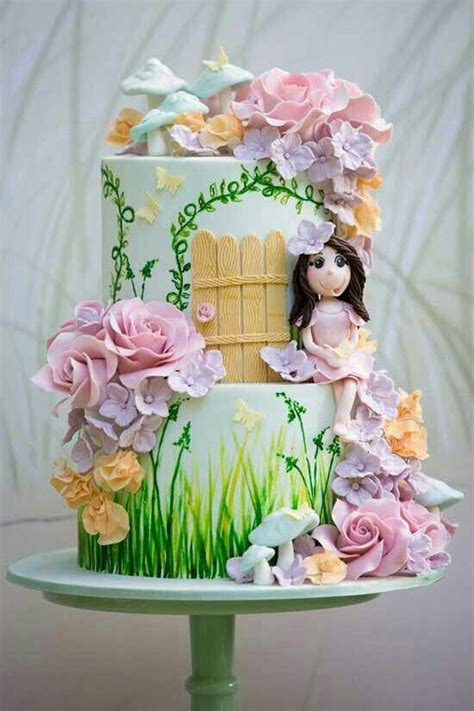 Flower Garden Cake Pinterest Flower Garden Cake Favorite Cake Designs Ideas Pinterest