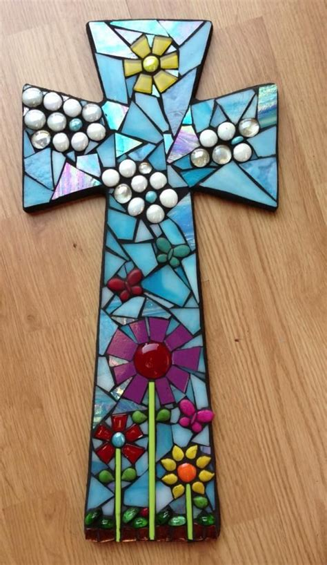 cross craft projects 201 best mosaic crosses images on mosaic