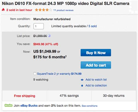 prices new low another new low price refurbished nikon d610 for