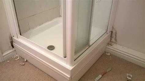 How To Fix A Leaking Shower Tray by Jims Handyman Service Previous Work