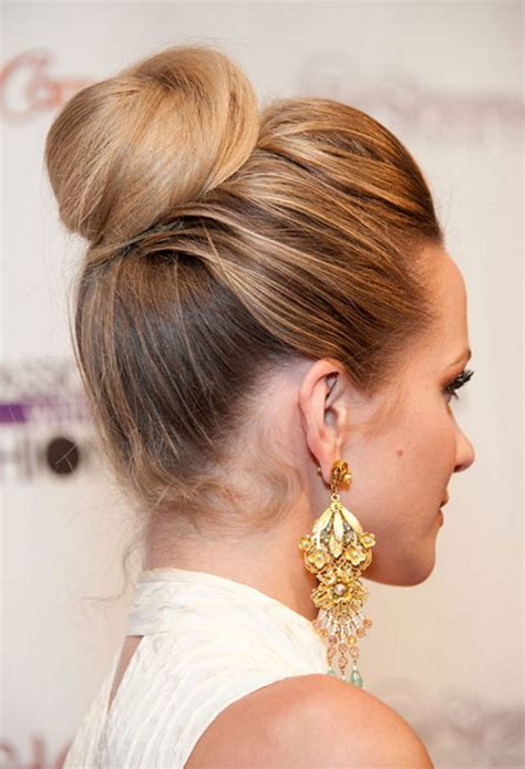 ways to bring in color in an updo sock bun hairstyles for long hair