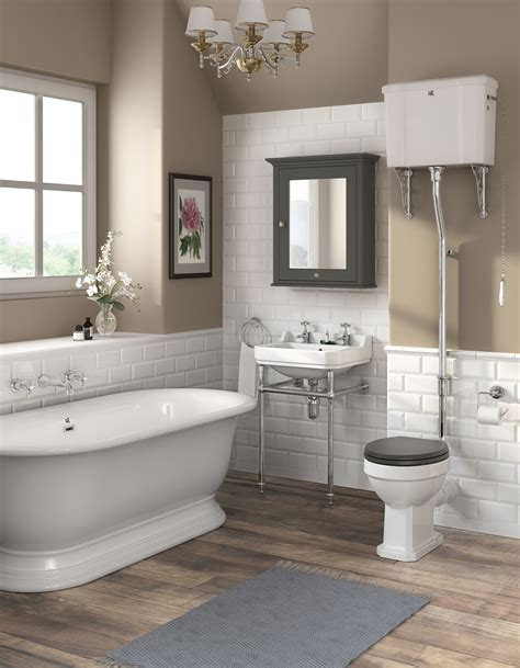 Modern Traditional Bathroom by Downton Carlton High Level Toilet Soft Seat