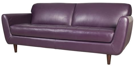 purple leather couch urban barn furnitute i like pinterest leather urban