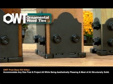 Decorative 4x4 Post Base by Owt Post Base Kits