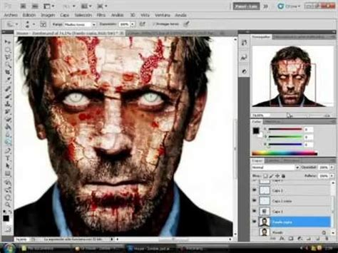 zombie tutorial using photoshop efecto zombie photoshop cs5 effect zombie youtube