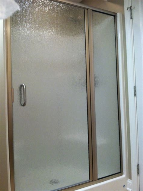 This Shower Glass Door Is Considered A Quot Semi Frameless Obscure Shower Door