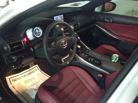 white lexus is 250 red interior my first lexus is350 f sport white with red club lexus