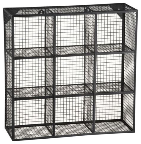 wire 9 cube wall shelf modern display and wall shelves